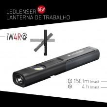 Torcia Professionale  WORKLIGHT 150 lumen IP54 Ricaricabile usb  Ledlenser® iW4R Art.IW4R