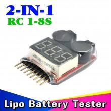 Tester per Batterie Li-Po Warning Buzzer Battery Voltage Tester INC 101 ULTIMO PEZZO  Art.365321