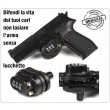 Lucchetto Serratura a Combinazione per Armi Pistola Fucili Fosco Sicurezza Proteggi Bimbo Art.259285