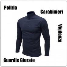 Lupetto Maglione Maglioncino Dolcevita in Micro Pile Neutro per Polizia Carabinieri Guardie Giurate Vigilanza Blu Navy Art.NSD-NN-L