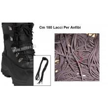 Stringhe Lacci per Anfibi e Scarponi cm 180 Neri o Marroni Art.LACCI-FAV