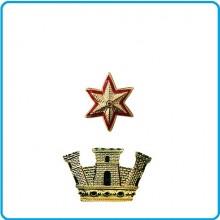Coppia di Gradi in Metallo da Maggiore Comandante con Chiusura a Vite  Art.EI-M5
