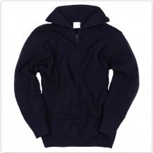 Pullover Maglione Navigazione Blu Nevy Cerniera sul Collo Fostex Art.1313210-2