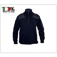 Maglione Maglia Pullover Collo Alto Blu Nevy Invernale Vigilanza Guardia Giurata Polizia Locale Art.MAG-GG