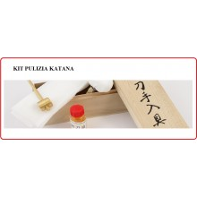 Cofanetto Kit Pulizia Katana Katane Cleaning Kit  Wooden Box Art.MCJL-600