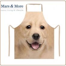 Grembiule con Pettorina Professionale Immagine Labrador Biondo Mars & More Art.7165853