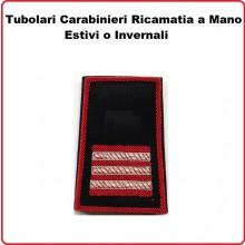 Gradi Tubolari Carabinieri Ricamati a Mano Canuttiglia  New Maresciallo Aiutante Art.CC-CAN-9