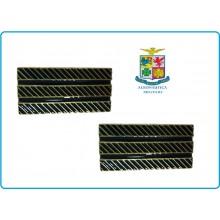Coppia di Gradi Metallo Nuovo Modello Aeronautica Maresciallo di 1° Classe Art.G9-ARS