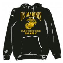 Felpa con cappuccio US Marines Not Kiss Art.NSD-USM