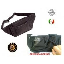 Marsupio per Armi in Cordura con Fondina Interna Arma Occulta Polizia Carabinieri G.di F. Vigilanza Vega Holster Italia Art.2U99