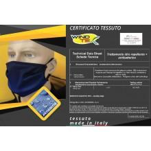 Mascherina Protettiva Modello Adulto o Bambino Neutra Blu Lavabile 20 Volte COVID-19 Art. PM-BL1