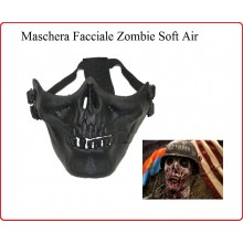 Maschera Tactical Zombie Nera In Tecnopolimero Royal Soft Air Paint Ball Art.KR005B