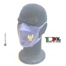 Mascherina Protettiva Modello Adulto Polizia di Stato nuovo logo prodotto Ufficiale Lavabile da 20 a 40 Volte COVID-19 Art. TUS-PS-M