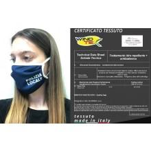 Mascherina Protettiva Modello Adulto o Bambino Specifica Polizia Locale Lavabile 20 Volte COVID-19 Art. PM-PL1