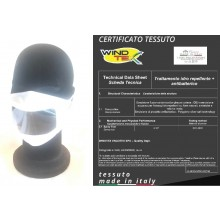 Mascherina Protettiva Modello Adulto Specifica Sordo Muti Con Parte Trasparente per Lettura delle Labbra Lavabile 20 Volte  Art. PM-SM