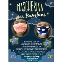 Mascherina Protettiva Specifica per Bambino Nuvole Rosa Nuvole Azzurre  Lavabile 20 Volte COVID-19 Art. PM-BN