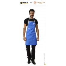 Parannanza Grembiule con Pettorina Falda Bluette con Ricamo Master Chef Masterchef Originali Siggi Art.26PZ0332/B