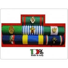 Crea Il Tuo Medagliere Militare o Civile Con I Nastrini Novità Assoluta Bombati Plastificati in Tessuto con Pins in Metallo Art.TUSCAN-NB