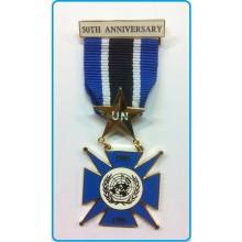 Medaglia 50° Anniversario  ONU Smaltata Art.ONU-50