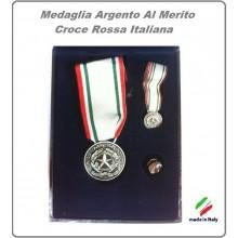 Set Medalie Al Merito Della Croce Rossa Italiana Argento Art.MED-CRI