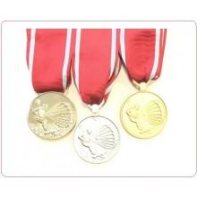 Medaglia al Merito per Lunga Attività di Paracadutismo Militare  Oro Argento Bronzo Art.TUSCAN-PARA