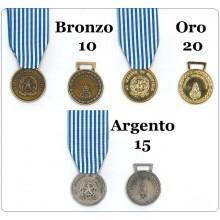 Medaglia Al Merito di Sevizio Polizia Penitenziaria Bronzo 10 anni Argento 15 anni  Oro 20 anni Art.TUS-PP