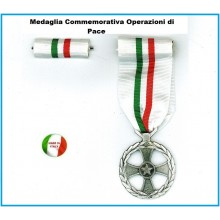 Medaglia + Nastrino Commemorativa Operazioni di Pace Art.NSD-124