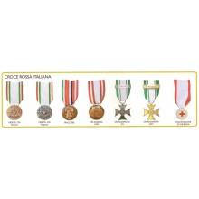 Medaglia Metallo Compresa di Nastro C.R.I. Croce Rossa Italiana Art.FAV-54
