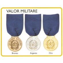Medaglia con Nastrino Valor Militare Modelli Disponibili Oro Argento Bronzo Art.FAV-26