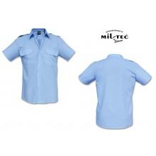 Camicia Militare Azzurra Manica Corta Mil Tec  Guardie Giurate Aeronautica GPG IPS Vigilanza Sicurezza Art. 10932011