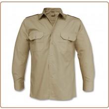 Camicia Kaky Militare Esercito Italiano con Spalline Manica Lunga FAV Italia Art.FAV-C-K