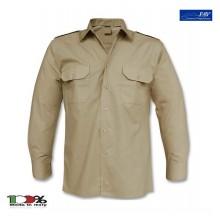 Camicia Kaky Militare Esercito Italiano con Spalline Manica Lunga FAV Italia Esercito Art.FAV-C-K