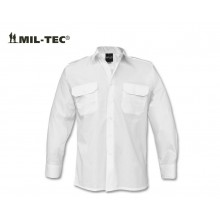 Camicia Bianca Manica Lunga  Modello Militare Con Spalline Marina Carabinieri Guardie Giurate Vigilanza GPG IPS Mil Tec Art. 10931007