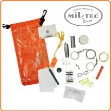 Sacco Stagno con Materiale Sopravvivenza Outdoor Survival Pack Mil Tec Art.16027400