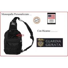 Marsupio Borsa Monospalla  Doppio Uso MOLLE Nero Personalizzato GUARDIE GIURATE Art.30700A-GG