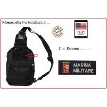 Marsupio Borsa Monospalla  Doppio Uso MOLLE Nero Personalizzato MARINA MILITARE Art.30700A-MM