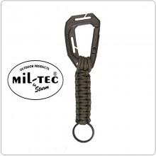Moschettone + Paracord Sistema MOLLE per Tattico Mil tec Art.15908001