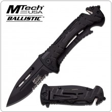 Coltello Tattico Serramanico MTech USA MT-A847BK SPRING ASSISTED KNIFE Art.MT-A847BK