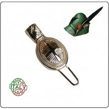 Nappina in Metallo da Ufficiale Alpini con Croce Sabauda per Cappello Alpino Art.T00973