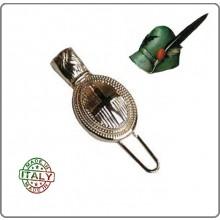 Nappina in Metallo da Ufficiale Alpini con Croce Sabauda per Cappello Alpino  Art.T00973/CEOC
