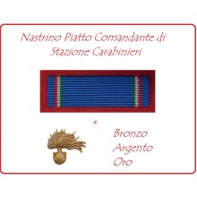 Nastrino in Tessuto Piatto Comandante di Stazione Carabinieri Art.CC-01N