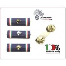 Nastrino In Tessuto  Comandante di Stazione Bombato Carabinieri + Fiamma Metallo Tuscan New Art.FAV-C-F