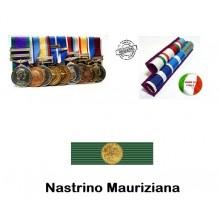Nastrino Medaglia Mauriziana Con Rapportino  Art.NSD-MAU