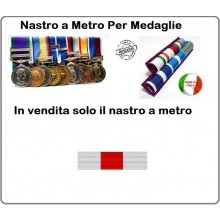 Nastro Militare a Metro Benemerenza Croce Rossa Italiana Art.N-M-MCRI