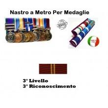 Nastrino Bombato Polizia di stato 3 Livello 3 Riconoscimento Art.PS-N3