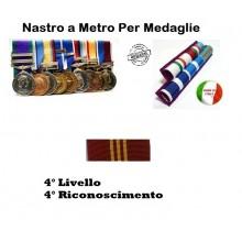 Nastrino Bombato Polizia di Stato 4 Livello 4 Riconoscimento Art.PS-N4