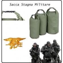 Sacca Trasporto Impermeabile 10 Litri Militare Packsack Drybag Military Verde Mil Tec  Art.13871001