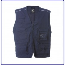 Gilet New Safari Blu Navy 118  Soccorso Sanitario JRC Art.987530