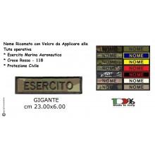 Targhette Nominativa Nome Personalizzato per Tuta Operativa Gilet Tattico Esercito Marina Soccorso 118 ecc... GIGANTE cm 23.00x6.00  Art. NSD-NOME-GIGANTE