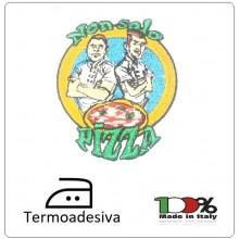 Patch Toppa Termo Adesiva Ricamata Non solo Pizza Art NSP-GIR